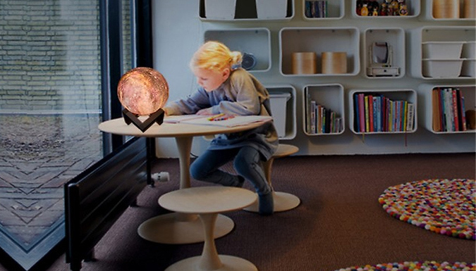 Remote or Touch-Control 3D Painted Moon Lamps - 8cm or 15cm