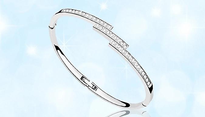 Swarovski Elements Triple Crystal Row Bracelet - 1 or 2 from GoGroopie