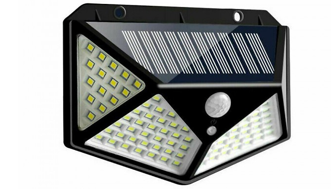 100 LED Solar Security Light - 1, 2 or 4 Pack