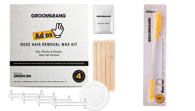 Groomarang 'Adios' Nose Hair Wax Removal Kit & Fleek Wand