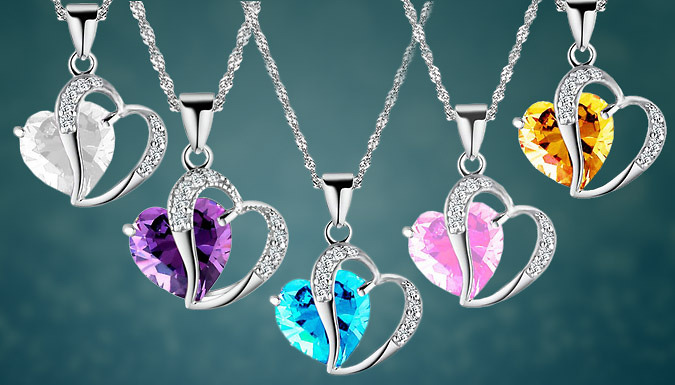 Silver Plated Love Necklace: Choice of 5 Colours