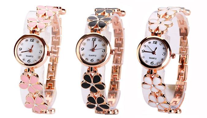 Flower Bracelet Watch; 3 Colours