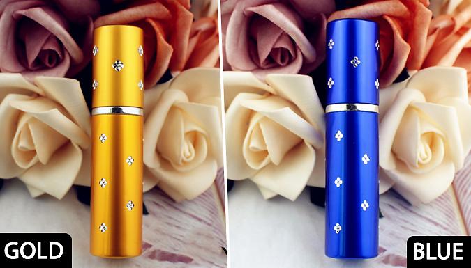 1, 3, 5 or 7 10ml Mini Travel Perfume Bottles - 7 Colours