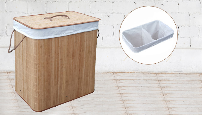 90L Rectangle Bamboo Laundry Basket