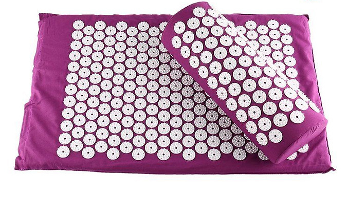Acupressure Massage Mat, Pillow & Carry Bag - 5 Colours