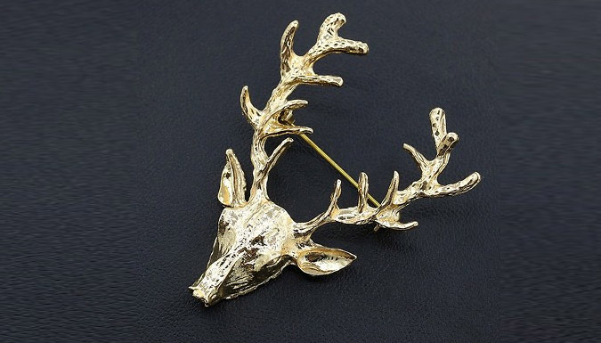Gold Plated Deer Antler Brooches