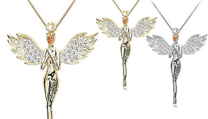 Guardian Angel Necklace With Crystals From Swarovski - 1, 2 or 3 from GoGroopie