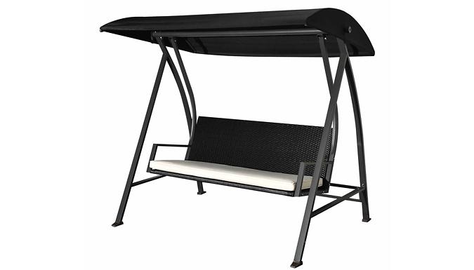 4-Seater Rattan Garden Swing Chair (£179)
