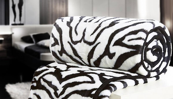 Compare retail prices of Zebra Print Mink Throw to get the best deal online