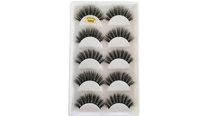 5 x Pairs 3D False Eyelashes
