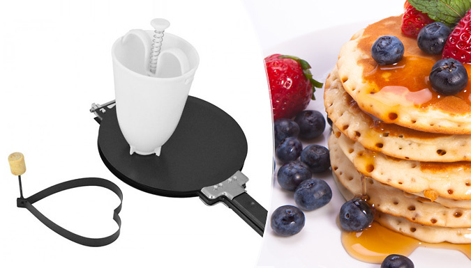 Save on Easy-Flip Pancake Maker With Free Batter Dispenser from Go Groopie