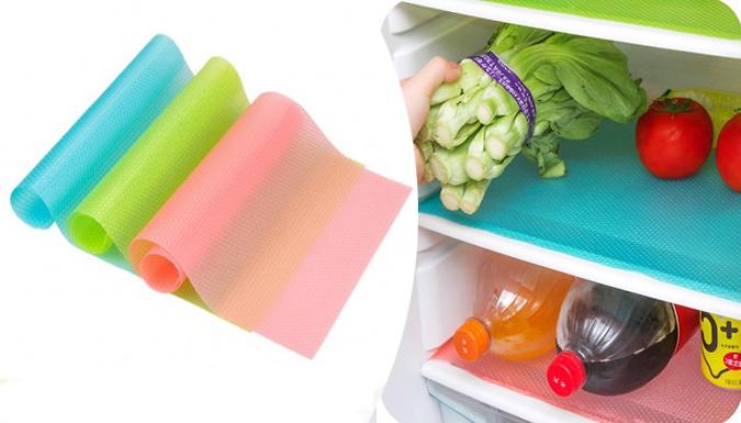 DDDeals - 4x Multi-Use Antibacterial Moisture-Proof Fridge Pads - 3 Colours