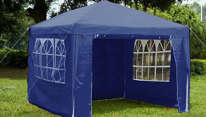 3m x 3m Garden Gazebo With Sides - 4 Colours from GoGroopie
