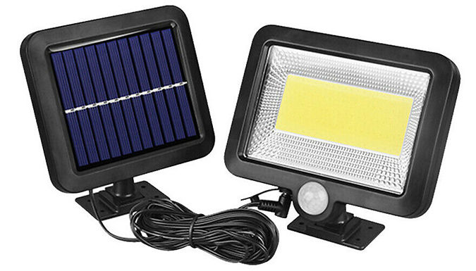 100 LED Solar Motion Sensor Outdoor Light