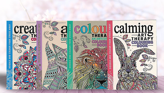 DDDeals - Adult Colouring Art Therapy Books - 4 Choices Available
