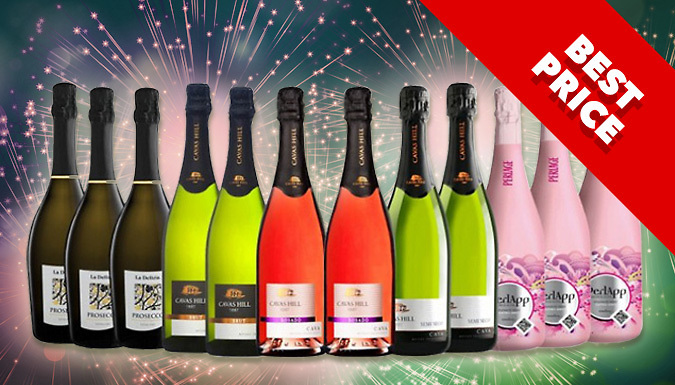 12 Bottles Prosecco and Cava Festive Collection