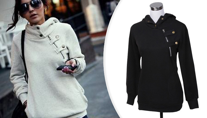Staple Winter Hoodie With Zip Detail - 3 Colours
