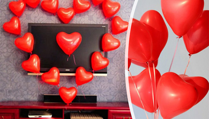 Pack of 20 or 40 Red Love Heart Balloons