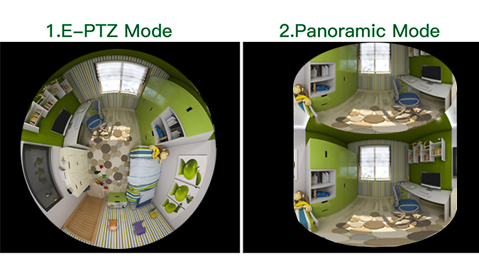 Panoramic 360 Degree Virtual Reality IP Camera