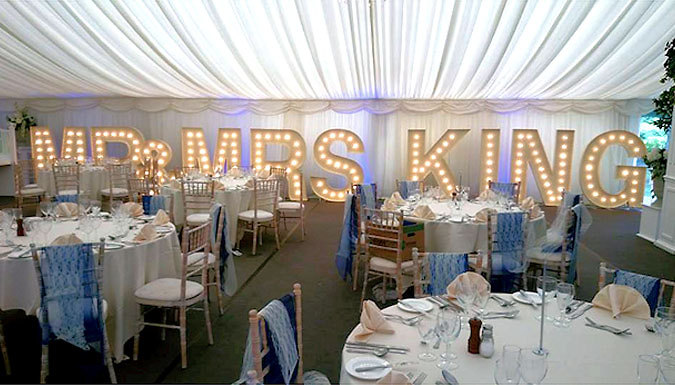 5ft Vintage Illuminated Letters - 3-Hour Event Hire