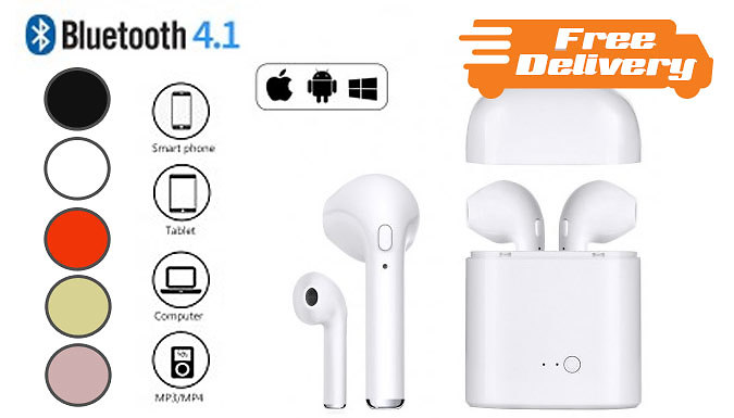 Wireless Earbuds With Charging Dock – 5 Colours – Free Delivery! (£12.99)