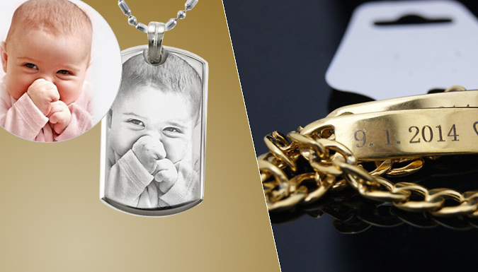 Personalised Jewellery   Engraved Bracelets and Picture Necklaces