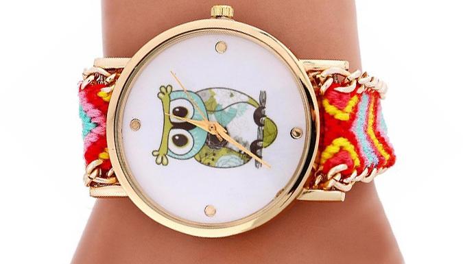 Woven Owl Bracelet Quartz Watch - 8 Colours