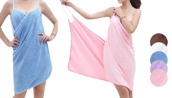 Microfibre Beach Towel Wrap  5 Colours