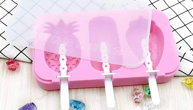 Novelty Silicone Ice Lolly Moulds - 3 Colours