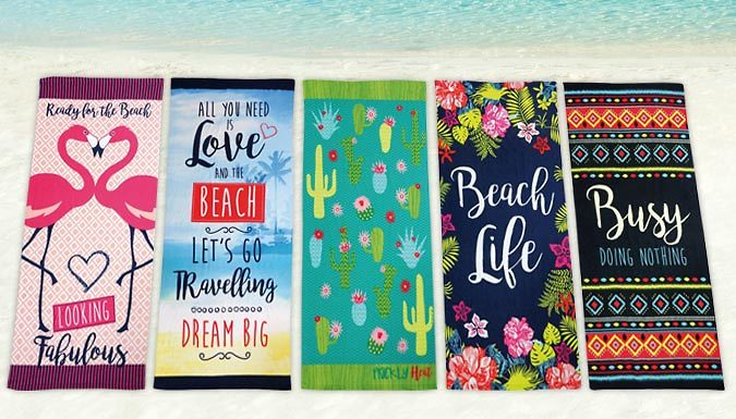 QuickDrying Beach Towel  5 Designs