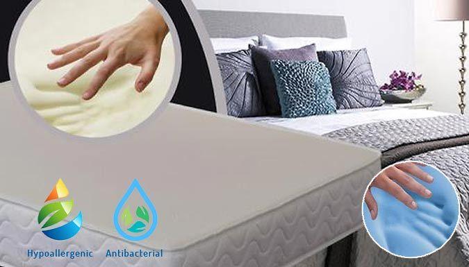Cooling Memory Foam Mattress  3 Sizes