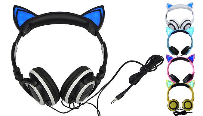 Cat LED Headphones  5 Colours