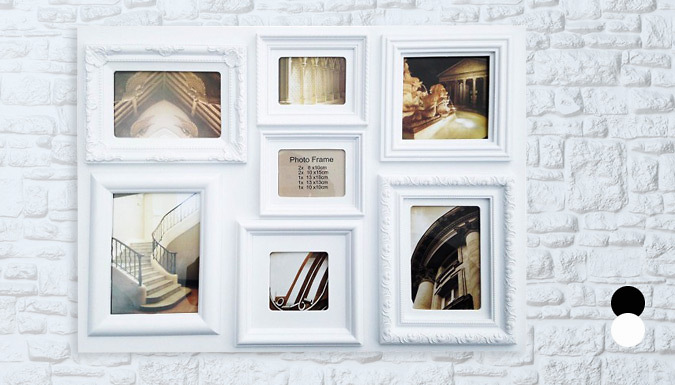 7Picture Large Rectangular Frame 2 Colours