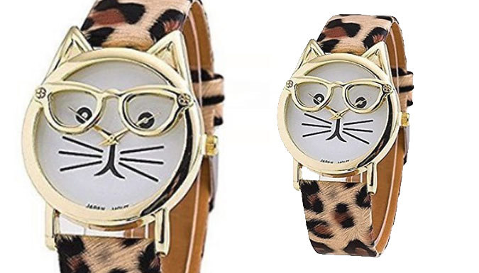 'Crazy Cat' Watch - 3 Designs