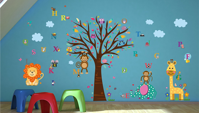Compare retail prices of Zoo Alphabet Wall Sticker to get the best deal online