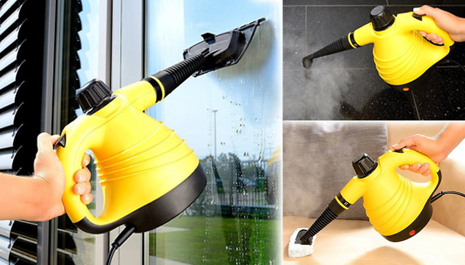 Hand Held Steam Cleaner  6 Attachments!
