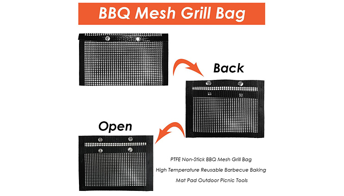 Non-Stick BBQ Mesh Grill Bag - 2 Sizes
