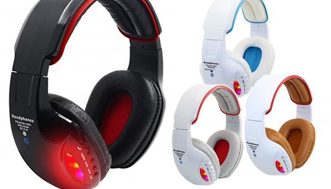 3in1 LED Wireless Headphones  4 Colours