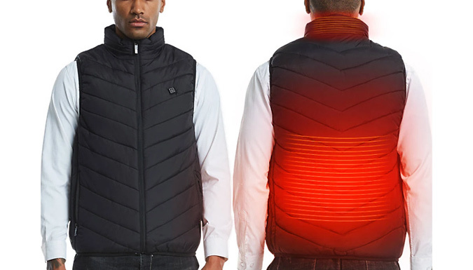 Unisex USB Electric Heated Vest - 6 Sizes & 4 Colours from GoGroopie