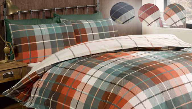 Reversible Check Duvet Sets  3 Colours