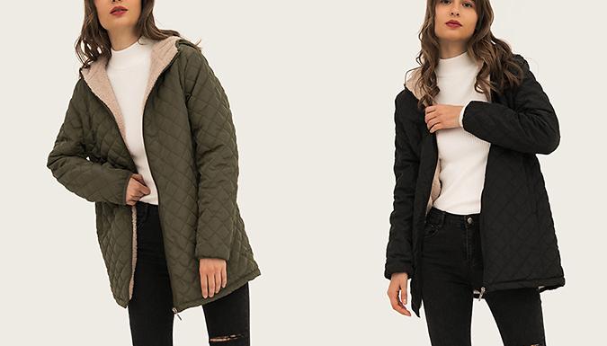 Women's Hooded Faux Fur Lined Coat - 5 Colours