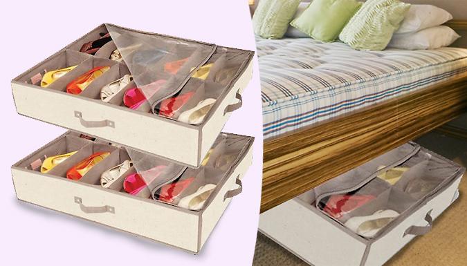 12Pair Under Bed Shoe Organisers  Buy 1 2 4 6 or 8!