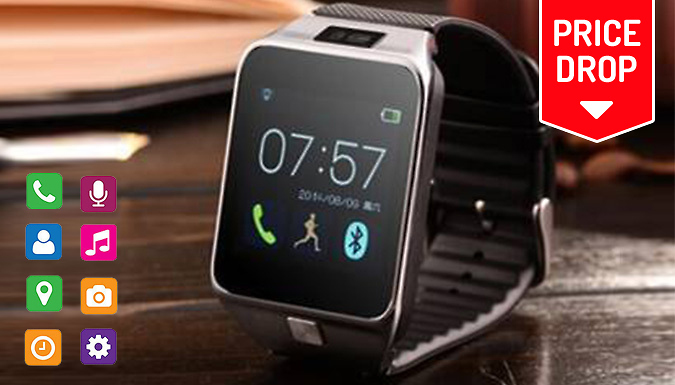Smartphone Watch With Camera and Sim Slot - Optional Bluetooth...