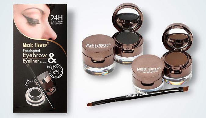 4-in-1 Gel Eyeliner and Eyebrow Powder