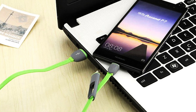 2 in 1 Samsung & iPhone Charger Cable