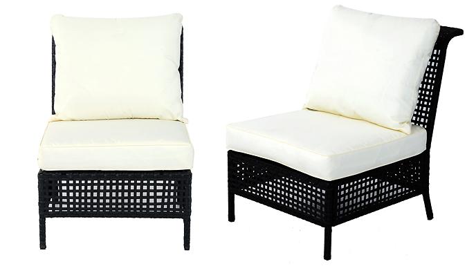 Outsunny Rattan Garden Furniture - Ottoman, Corner or Armless Chair