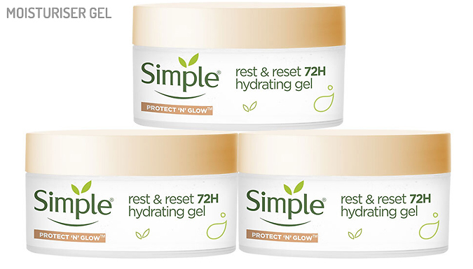 Simple Face Moisturisers - Gel, Tripe Protect or Protect and Glow from Ebeez