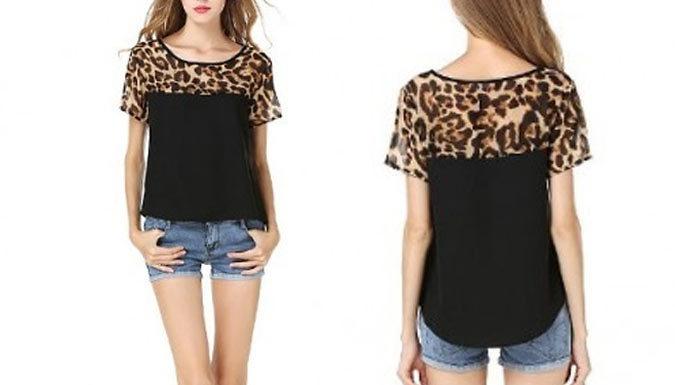Block Leopard Print T-Shirt - 2 Colours