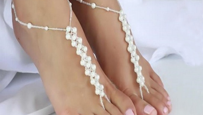Faux Pearl Anklet
