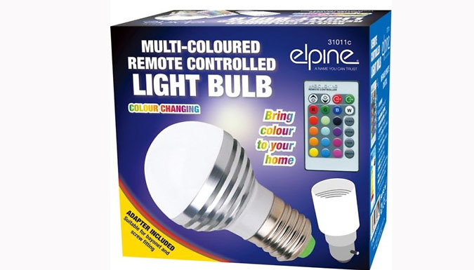 Colour-Changing LED Light Bulb - 1 or 2